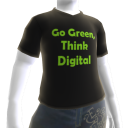 T-shirt Go Green Think Digital