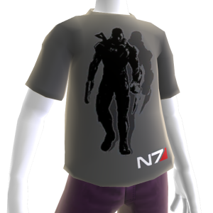 T-shirt gris de Mass Effect 3