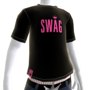 Pink on Black Swag Tee