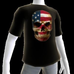 USA Soccer Skull Black