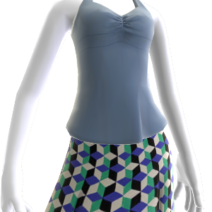 Blue Yoga Top