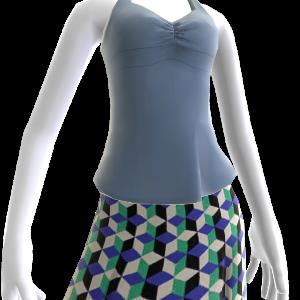 Blaues Yoga Top