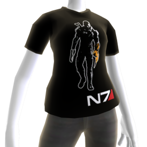 Camiseta negra de Mass Effect 3