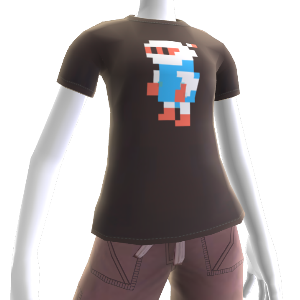 White Bomber Pixel T-Shirt