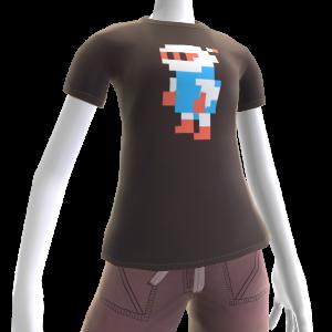 Pixel-T-Shirt (Weißer Bomber)