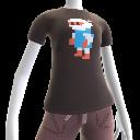 Maglietta pixel Bomber Bianco