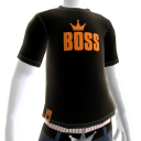 Orange on Black BOSS Tee