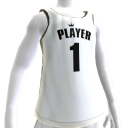 KKZ White and Black Player 1 Jersey
