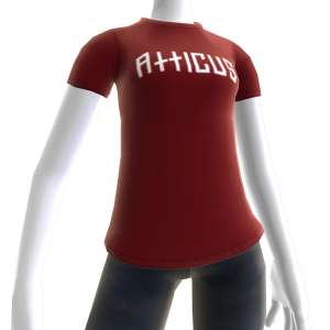 Atticus Double Slash Red t-shirt