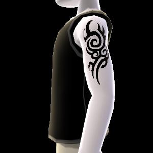 Tatuaje de diseño pequeño y camisa, negro