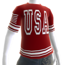 USA Soccer Red Jersey White