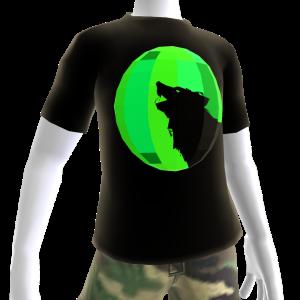 Green Chrome Wolf Black Shirt