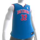 Detroit Pistons NBA2K11-Trikot 