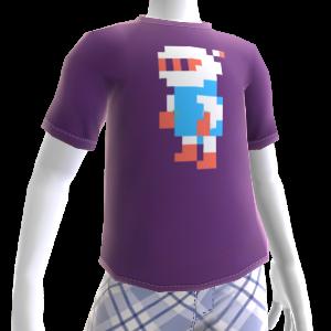 Camiseta píxel Bombero Blanco