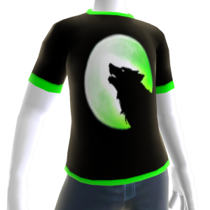 Green Wolf Howl Shirt GT