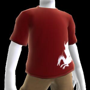Rotes Blutdrachen-T-Shirt