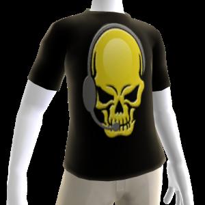 Epic Horror Skull Gamer Gold T-Shirt