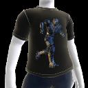 走るエージェントのシャツ