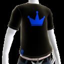 Blue on Black Crown Tee