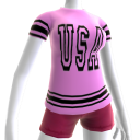 USA Soccer Pink Jersey Black
