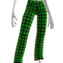 Cyber Green Plaid Pants