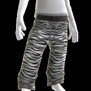 Low Cut Denim - Zebra