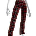 Plaid Red and Black Pants