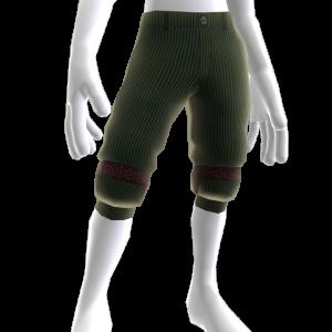 Pantalones verdes con cintas en las piernas