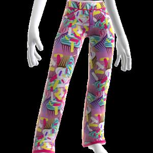 Cup Cake Print Pants