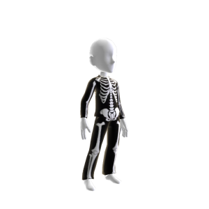 Epic Blk Skeleton Suit