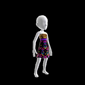 Designer Wild Print Dress