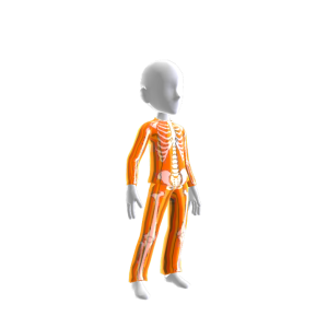 Epic Halloween Orng Skeleton Suit