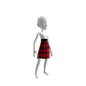 Plaid Red and Black Dress