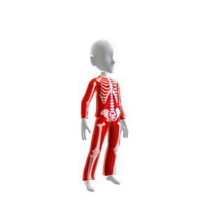 Halloween Skull Suit Red Chrme