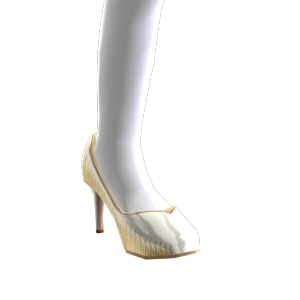 Zapatos de tacón de estilo tejido