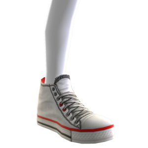High Top Sneakers - White