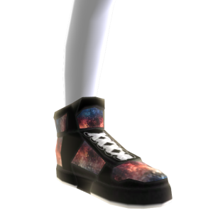 Red White & Blue Galaxy Shoes