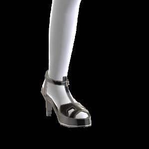 Zapatos tacón tiras negras