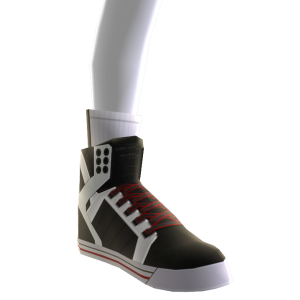 White Black and Red Skytop