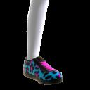 Blue Leopard Print Sneakers