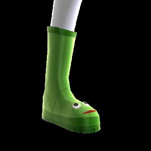 Botas para la lluvia de rana