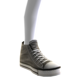 High Top Sneakers - Grey 