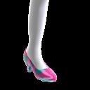 Heart Print Shiny Heels
