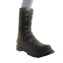 Black Buckle Combat Boots 
