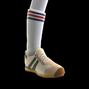 Zapatillas y calcetines vintage