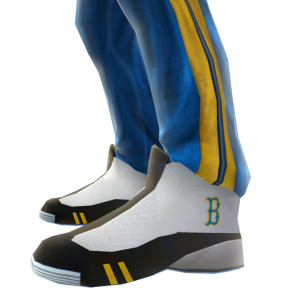 UCLA Track Pants and Sneakers