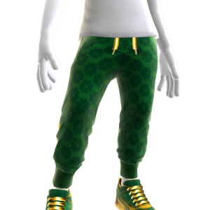 Bling St. Patty's Joggers and Sneakers