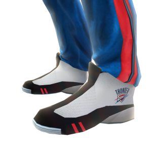 Thunder Track Pants and Sneakers