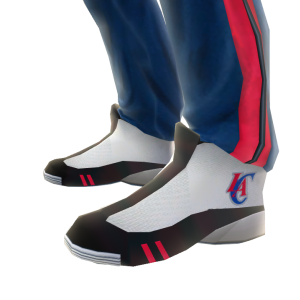 Clippers Track Pants and Sneakers