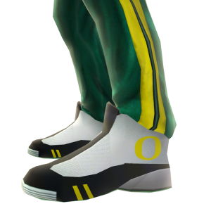 Oregon Track Pants and Sneakers